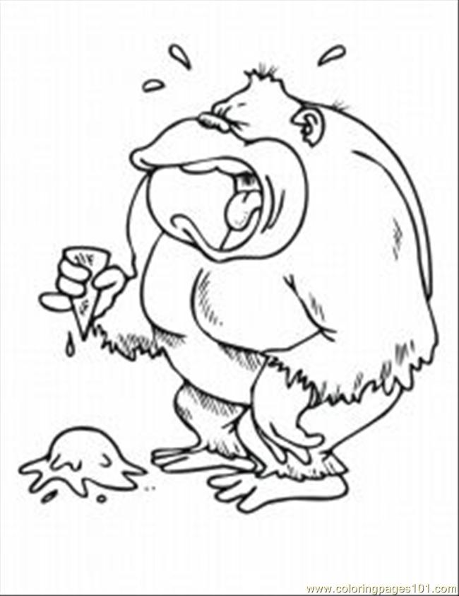 Ing Pages Spider Monkey 1 Med Coloring Page