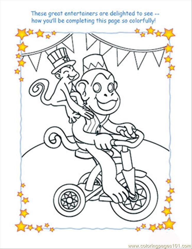 Monkey Colorpage July25 Coloring Page