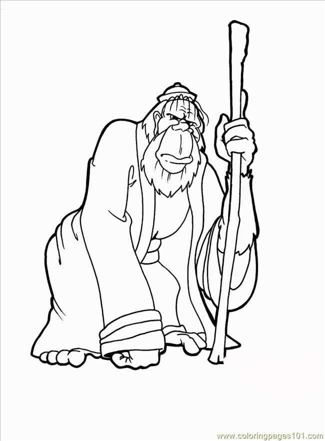 Monkey Color Pages Coloring Page