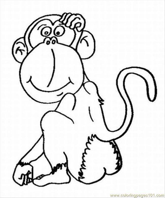 Oring pages spider monkey lrg coloring page free monkey for Spider monkey coloring page