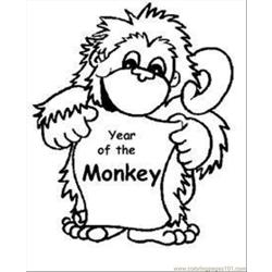 Aby Monkey Coloring Pages Med