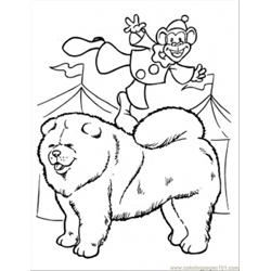 A Monkey Clown Coloring Page