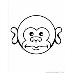 E Monkey Coloring Pages 5 Lrg