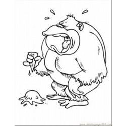 Ing Pages Spider Monkey 1 Med Free Coloring Page for Kids