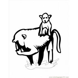 Ing Pages Spider Monkey 4 Lrg Free Coloring Page for Kids