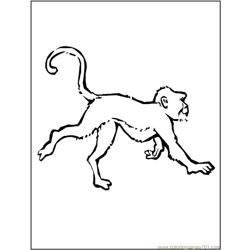 Monkey3 Free Coloring Page for Kids