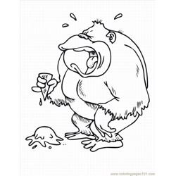 Monkey Coloring Pages 3 Lrg Free Coloring Page for Kids