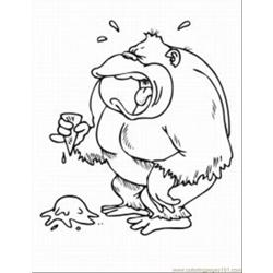 Monkey Coloring Pages 3 Med