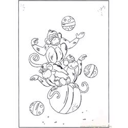 Monkey On Ball B2072 Free Coloring Page for Kids