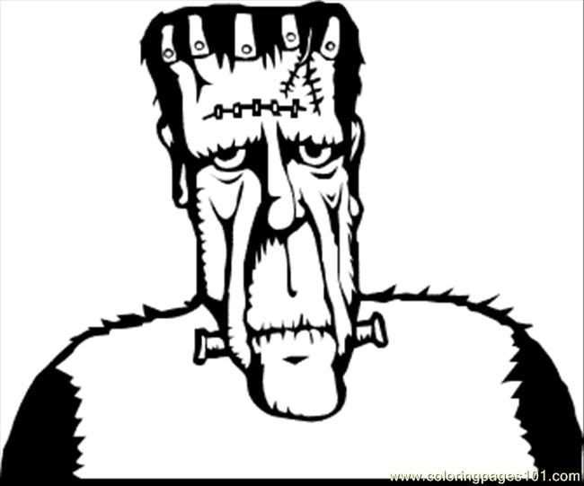 Frankenstein 2 Coloring Page