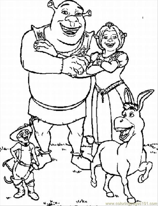 Coloring Pages For Shrek Lrg Coloring Page