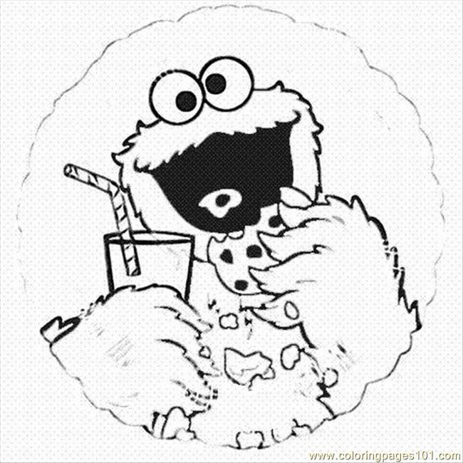 Monster Coloring Pages 1 Lrg Coloring Page