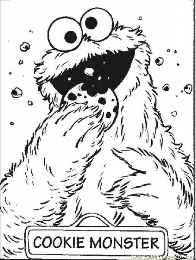 monster coloring pages 2 lrg coloring page - Monster Coloring Page