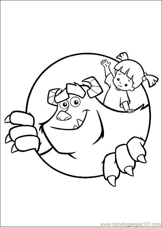 Monsterinc 10 Coloring Page