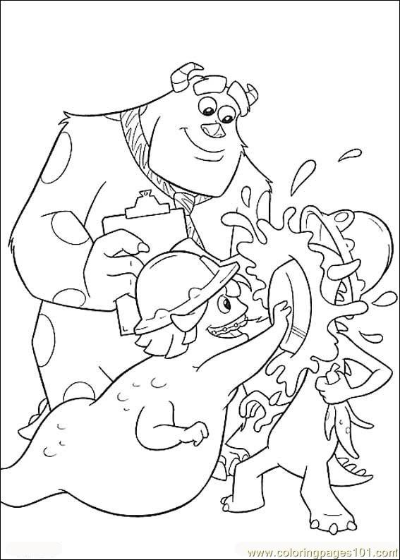 Monsters Inc01 Coloring Page