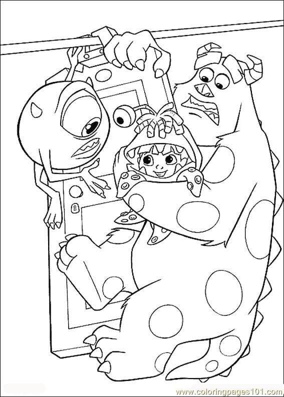 Monsters Inc10 Coloring Page