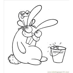 Coloring Pages Rabbit And Frog