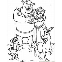 Coloring Pages For Shrek Lrg