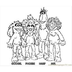 Monster5 Free Coloring Page for Kids
