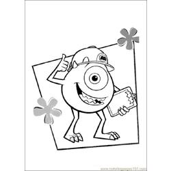 Monsterinc 02 Free Coloring Page for Kids