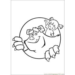 Monsterinc 10 Free Coloring Page for Kids