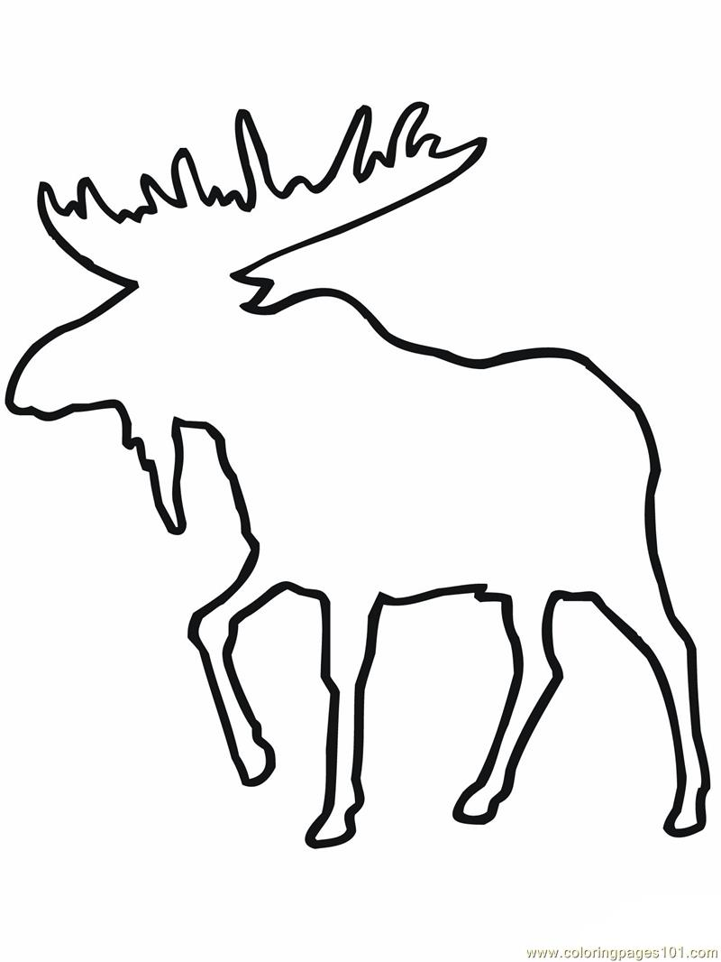 Moose outline Coloring Page Free Mouse Coloring Pages