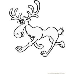 Moose runing coloring page