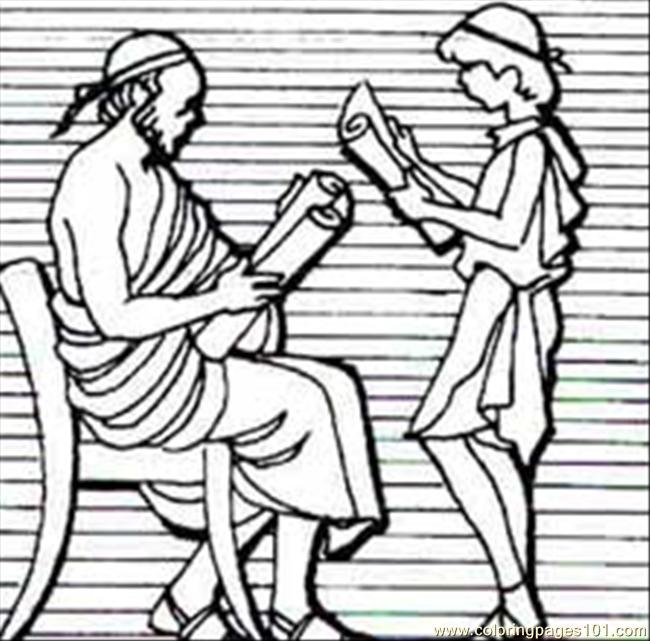 75 220greekhebrew Coloring Page