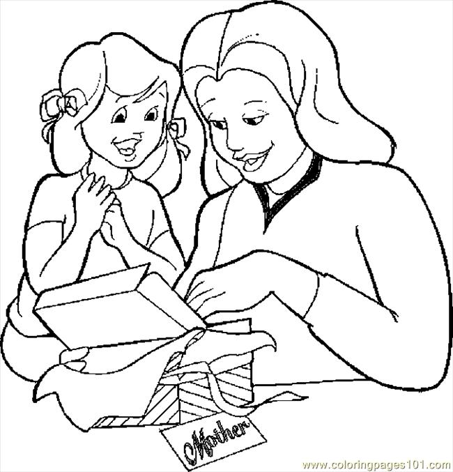 Gift For Mom 3 Coloring Page  Free Mothers Day Coloring Pages