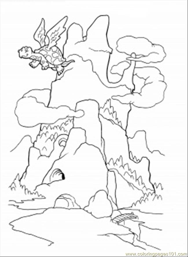 dragon mountain coloring page coloring page - Mountain Coloring Pages Printable