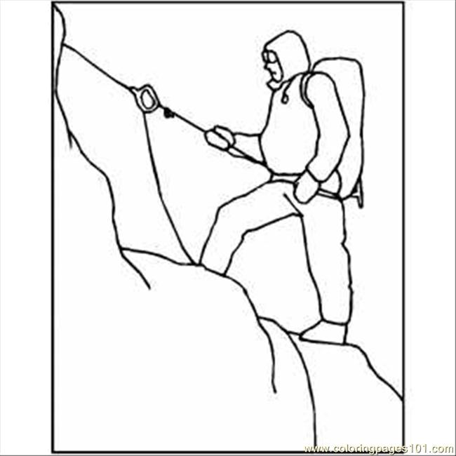 Snow mountain climbing coloring page free mountain for Mountain coloring page