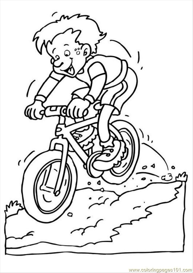 Es Photo Mountain Bike P Coloring Page