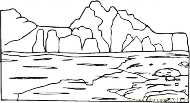 mountain coloring page - Mountain Coloring Pages Printable