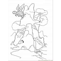 Dragon Mountain Coloring Page