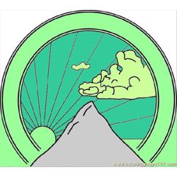 Mountain Seal Clip Art 242461 Free Coloring Page for Kids