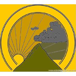 Mountain Seal Clip Art 24246 Free Coloring Page for Kids