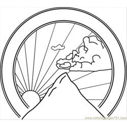 Mountain Seal Clip Art 24246 coloring page