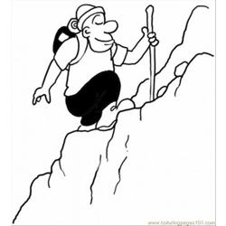 Ng The Mountain Coloring Page Free Coloring Page for Kids