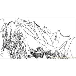 Wing Mountainspm Free Coloring Page for Kids