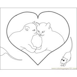 Cat1 Mouse coloring page