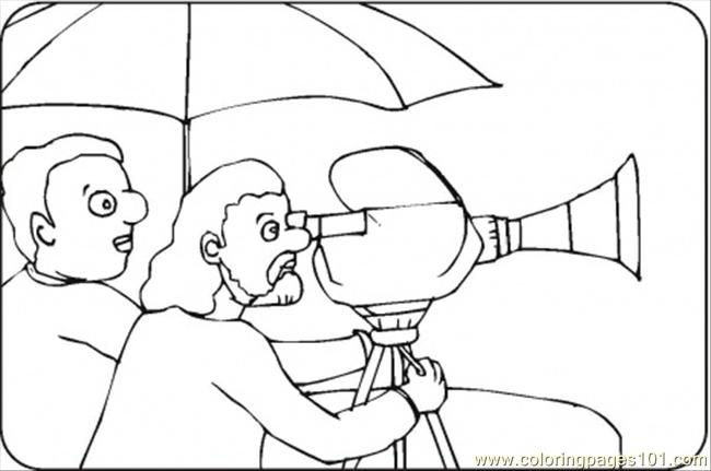 Director With Video Camera Coloring Page Free Movies Coloring