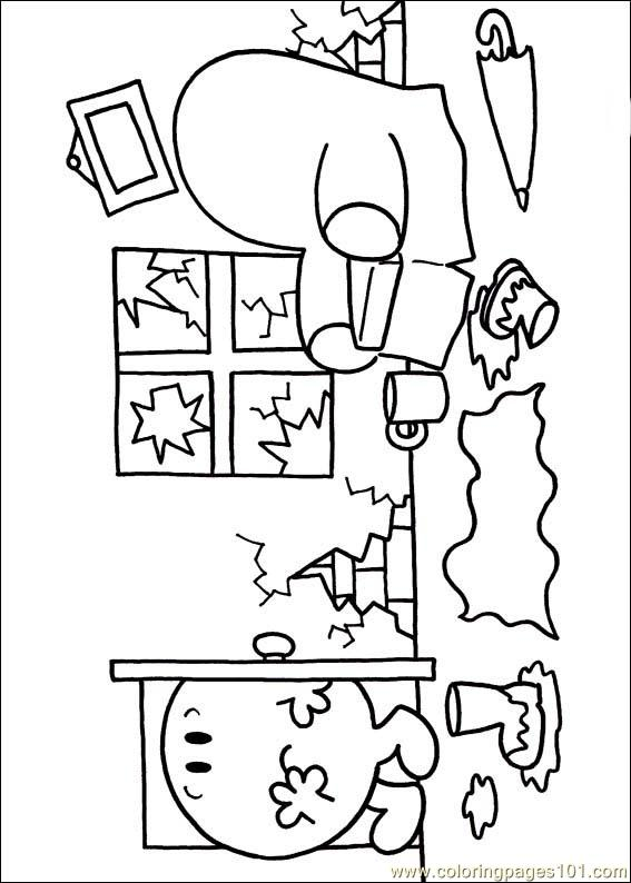 Mr Men 13 Coloring Page