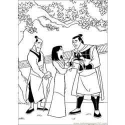 Mulan Free Coloring Page for Kids