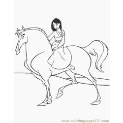 Normal Mulan (6) Free Coloring Page for Kids