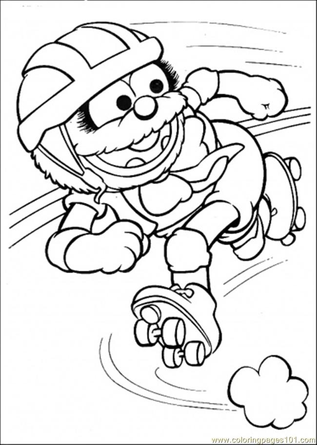 Elmo Hits The Ball Coloring Page