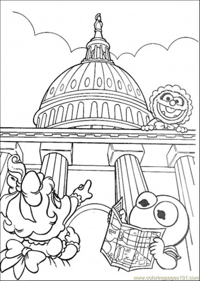 Elmo Is Reading The Map Coloring Page