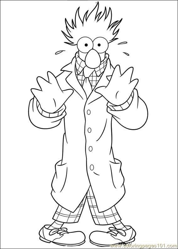 Muppets 12 Coloring Page