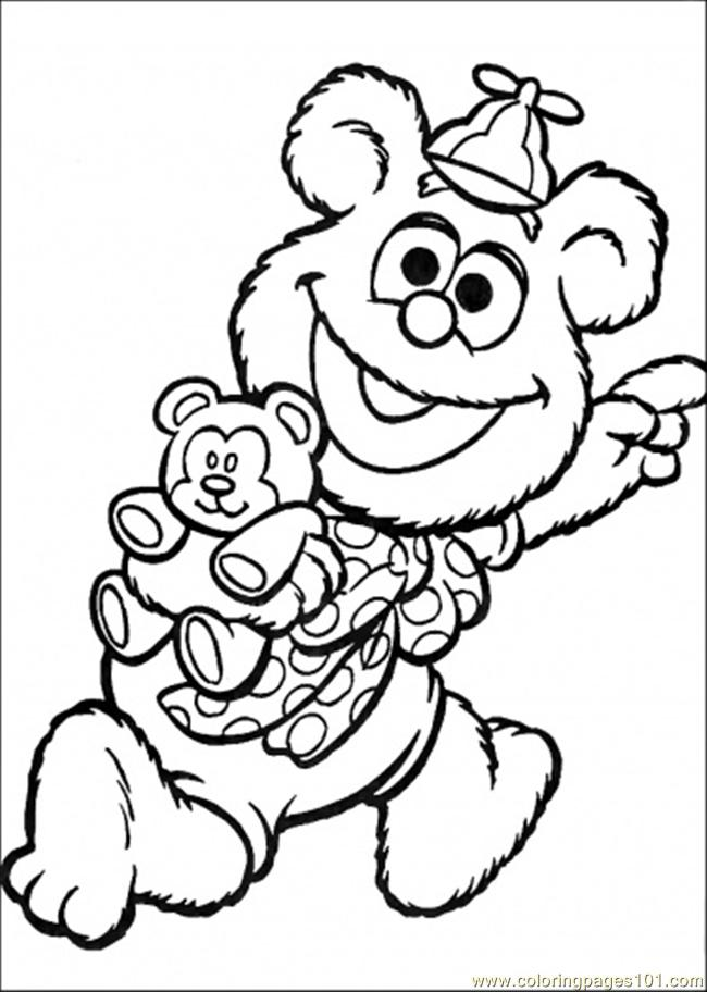 The Baby Want To Go Some Place Coloring Page