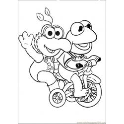 Elmo And His Friend Is Riding A Bicycle