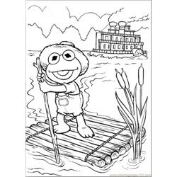 Elmo Is Sailing In The Lake Free Coloring Page for Kids